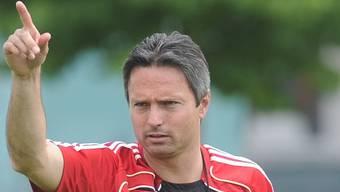 David Sesa weist als Trainer dem FC Wohlen auch weiterhin den Weg. awa