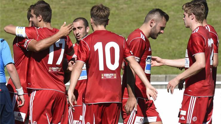 Mit dem letzten Sieg gegen den FC Thalwil konnte sich der FC Baden für die Aufstiegsspiele qualifizieren. (Archiv)
