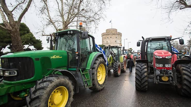 Bauernprotest im nordgriechischen Thessaloniki.