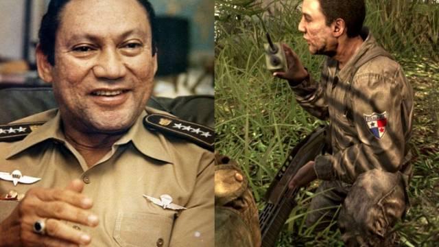 Manuel Noriega, links in echt, rechts im Spiel (Archiv/Screenshot)