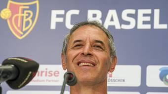 Marcel Koller am Dienstag bei der Pressekonferenz im Hinblick auf das Spiel gegen Linz.