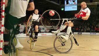 Die Radball-Elite ist in Basel zu Gast.