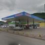 Der überfallene Tankstellenshop in Frick.