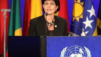 Bundesrätin Doris Leuthard am UNO-Nachhaltigkeitsgipfel