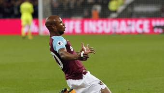 West Ham's Andre Ayew feiert sein Tor
