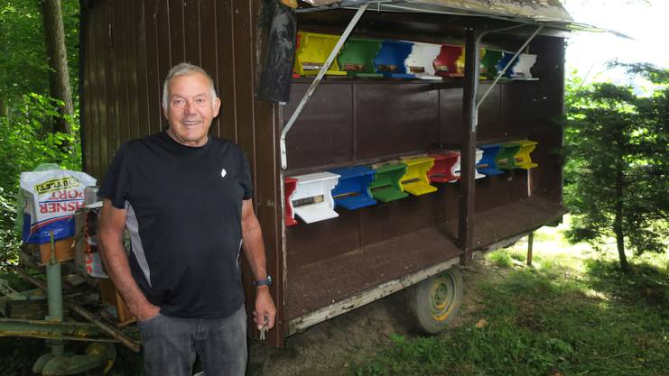 Das mobile Bienenhaus von Peter Dällenbach steht an der Grenze zu Oberwil-Lieli.