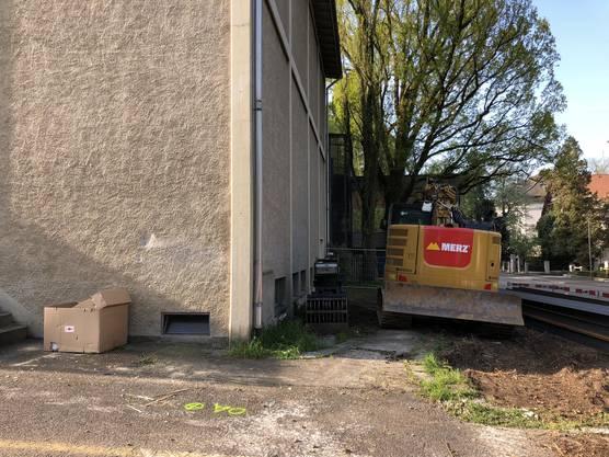 Die Bauarbeiten beim Kurtheater Baden laufen