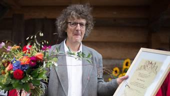 Urs Koenig erhält den Kultur- und Anerkennungspreis Bucheggberg.