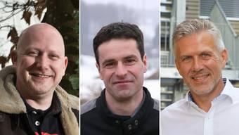 Von links nach rechts. Erich Hunziker, Max Hauri, Daniel Dätwyler