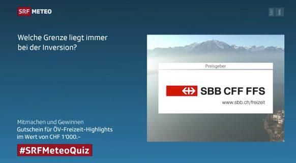 Direkt neben der Quiz-Frage: das SBB-Logo.