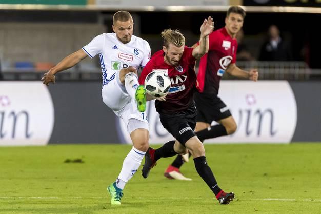 Alexandre Pasche (Lausanne) gegen Nicolas Schindelholz (Aarau)