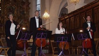«La Poesia» Das Celloquartett mit (von links) Christine Schärer, Alfred Zürcher, Gabriela Schmidt und Urs Roth.