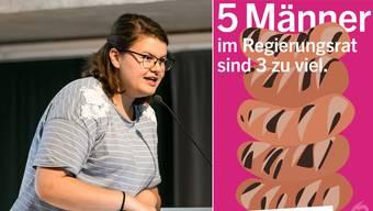 Die Plakataktion stammt von den SP Frauen*Aargau um Co-Präsidentin Mia Gujer.