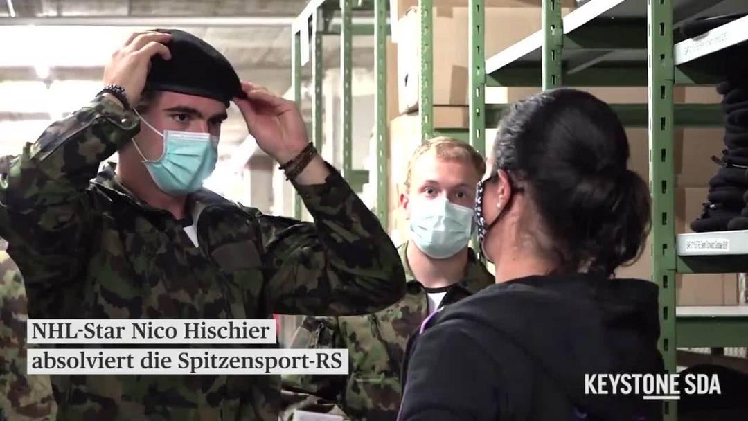 Nico Hischier fasst seine Armee-Uniform