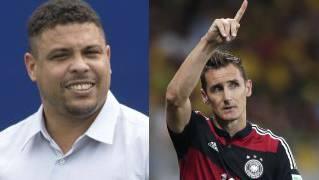 Ronaldo muss sich 16.-Rekord-WM-Tor von Klose live im Stadion anschauen