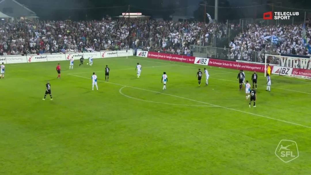 Challenge League, 2019/20, 3. Runde, FC Aarau – GC Zürich, 65. Minute: Tor von Elsad Zverotic.