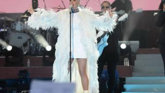 Will immer wieder sonntags das Handy ausgeschaltet lassen: Sängerin Katy Perry. (Archivbild)