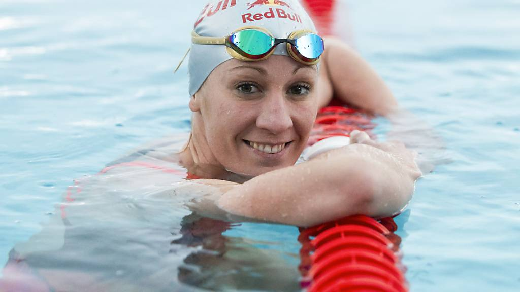 Die Triathletin Daniela Ryf im November 2019 während eines Trainings in der Schwimmhalle in Zuchwil