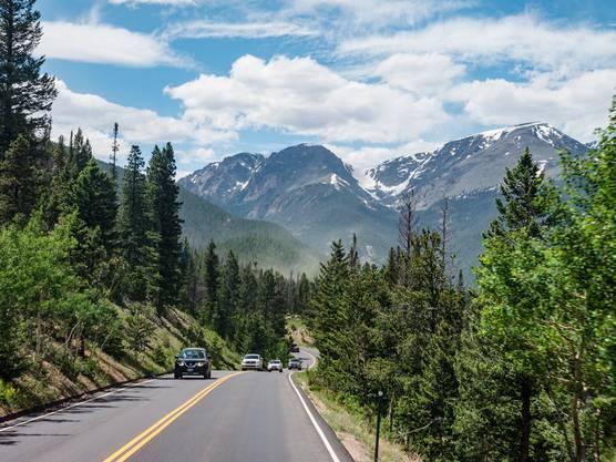 Der Rocky-Mountains-Nationalpark bietet Roadtrips wie aus dem Bilderbuch.