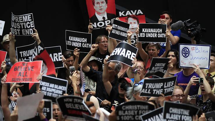 Tausende wehrten sich in Washington nach den ergebnislosen FBI-Untersuchungen gegen die Wahl von Brett Kavanaugh zum obersten US-Richter.