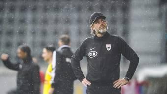 Stephan Keller verbuchte im letzten Saisonspiel endlich einen Sieg mit dem FC Aarau.
