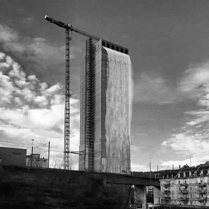 Diese Visualisierung erinnert an die Waterfall-Installationen des Künstlers Olafur Eliasson. Auf Anfrage erklärt Studio Olafur Eliasson allerdings, dass er nichts damit zu tun habe. Quelle Twitter