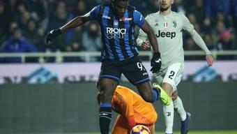 Der Kolumbianer Duvan Zapata schoss beim 3:0-Sieg von Atalanta Bergamo im Cup-Viertelfinal gegen Juventus Turin zwei Tore