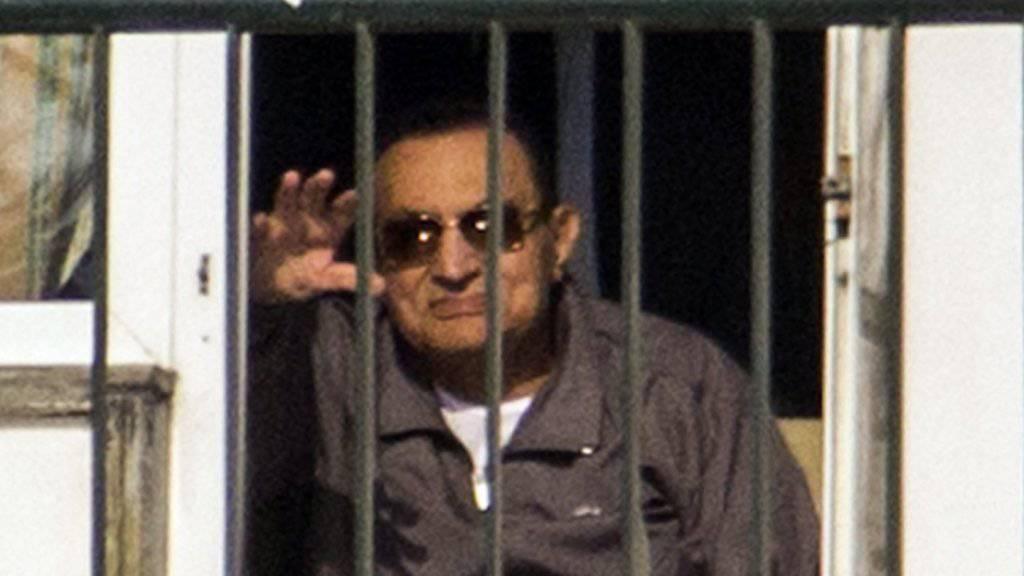 Der Berufungsprozess gegen Mubarak beginnt erst im November. Der Ex-Präsident Ägyptens konnte dem Prozessbeginn wegen schwerer Krankheit nicht beiwohnen. (Archivbild)