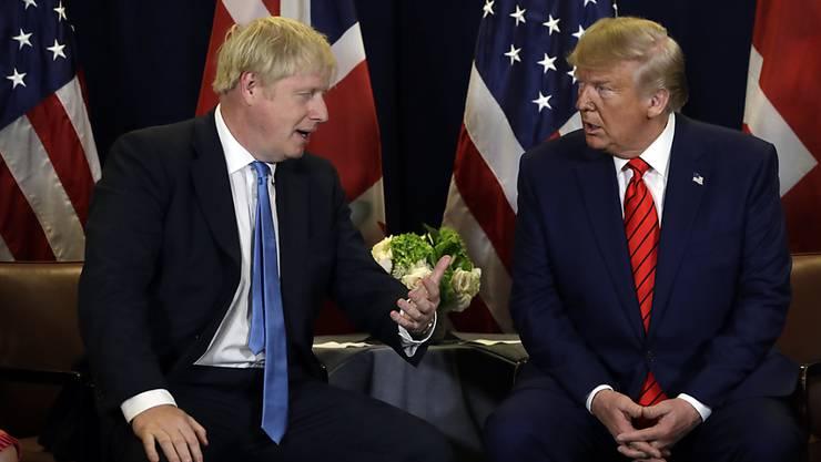 US-Präsident Donald Trump (rechts) hat mit dem britischen Premier Boris Johnson (links) telefoniert und die Möglichkeiten für eine Zusammenarbeit nach dem Brexit ausgelotet. (Archivbild)