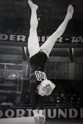 Emmi Schmid-Schubiger 1966 an der WM in Dortmund.