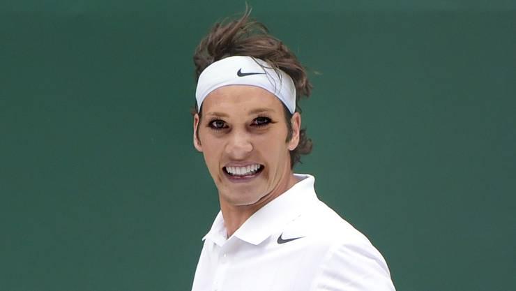 Florence Schelling möchte für einen Tag im 2015 Roger Federer sein.