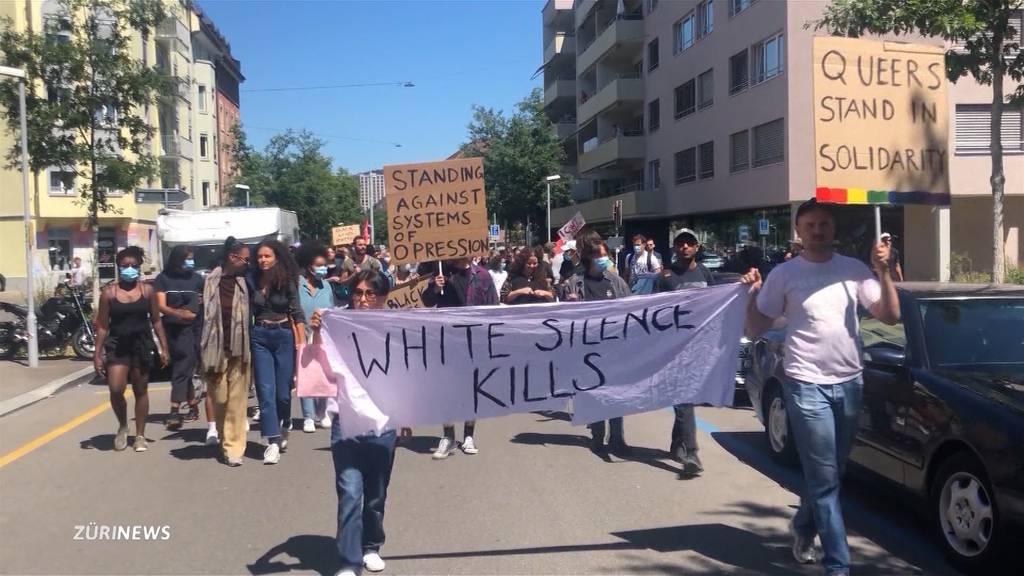 Wut über Tötung von George Floyd erreicht die Zürcher Strassen