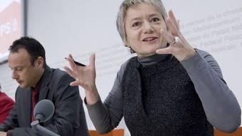 SP-Vizepräsidentin Jacqueline Fehr bei der Medienkonferenz
