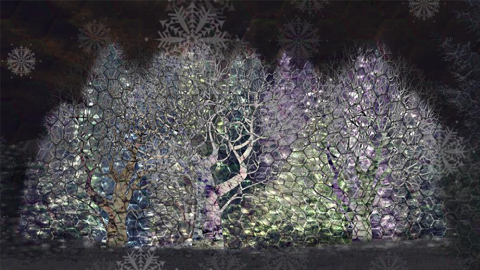 «Trees in Motion» wurde von Künstler Artificial Owl erschaffen. (© zVg)