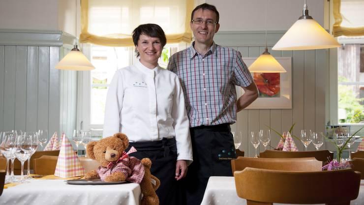 Esther und Gerhard Keller, Inhaber des Gasthauses Bären in Hottwil.