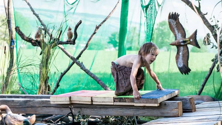 Schon die Jüngsten beteiligen sich voller Einsatz an den Wikinger Spielen.