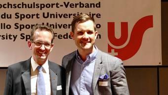 Mike Kurt (r.) wird Nachfolger von Andreas Csonka als Verbandspräsident