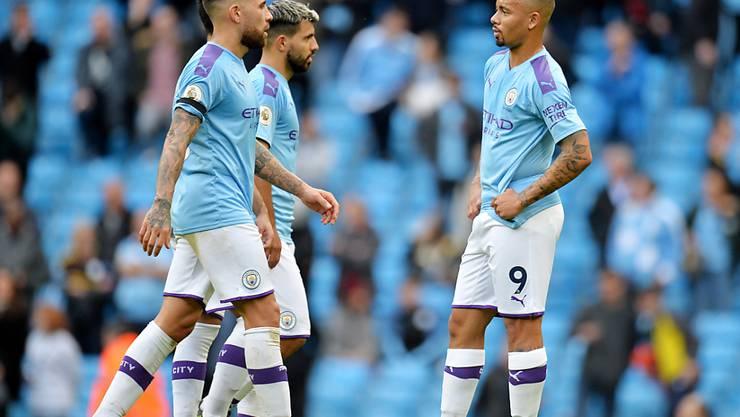 Enttäuschte Gesichter: Manchester City verliert den Anschluss an Leader Liverpool