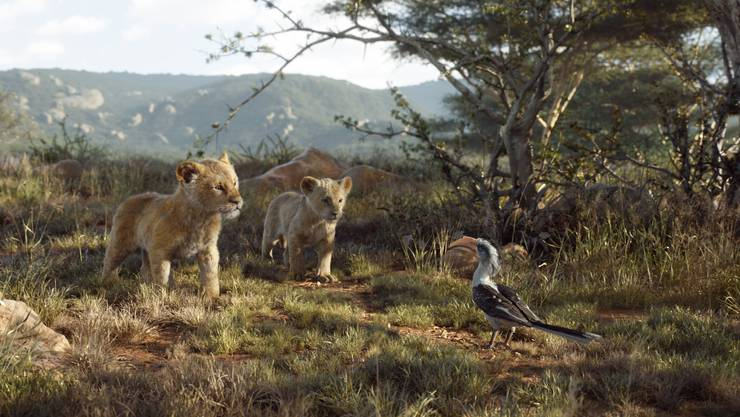 Simba, Nala und Königsberater Zazu.