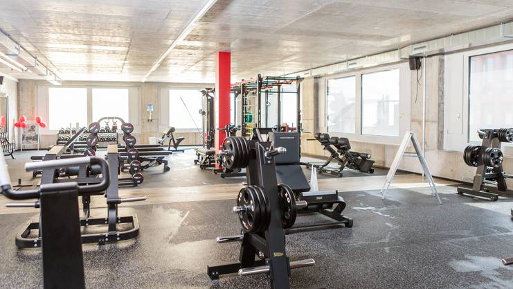Ein Einblick ins neue Fitnesscenter in Lenzburg.