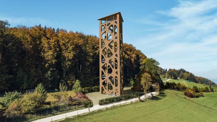 Die Illustration des Hasenbergturm
