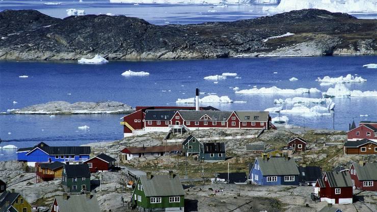 Ilulissat: Im Meer vor der westgrönländischen Stadt wird Öl vermutet.