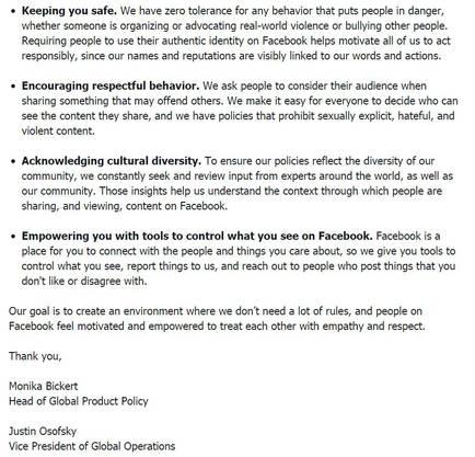 In einem offenen Brief an die Gemeinschaft, treten die Verantwortlichen auf Facebook sogar mit Namen auf.