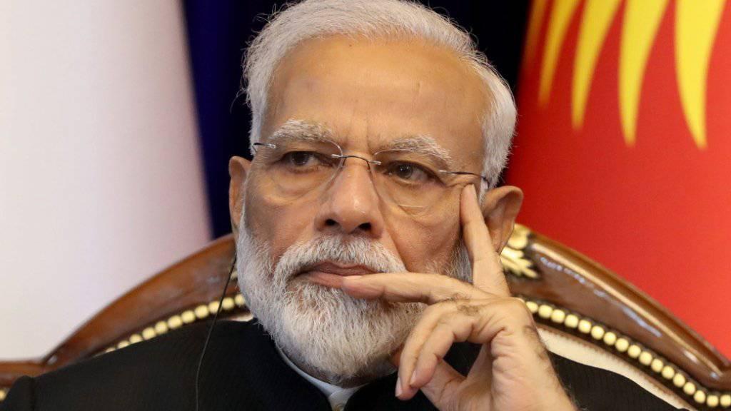 Nach einem Zelteinsturz mit mindestens 15 Toten hat der indische  Premierminister Narendra Modi (im Bild) angekündigt, dass die Regierung die Familien der Getöteten finanziell entschädigen wird. (Archivbild)