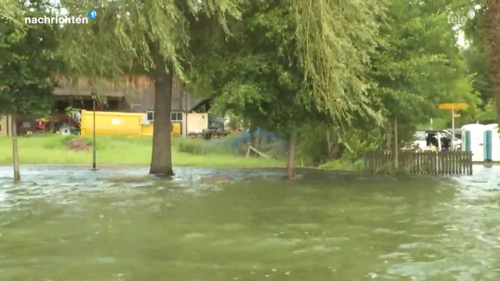 Sempachersee immer noch überschwemmt
