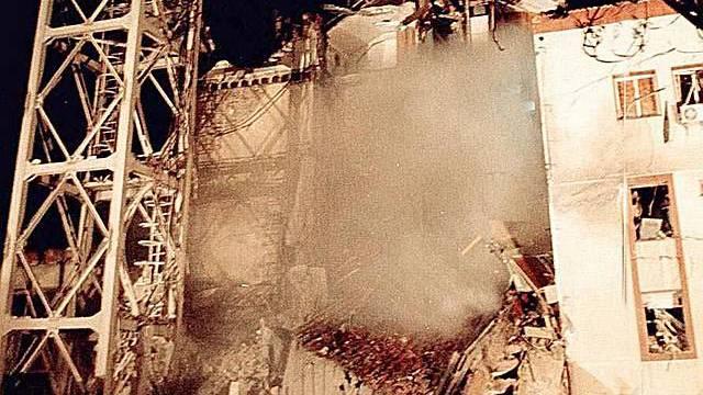 Bombardierung des Fernsehgebäudes 1999