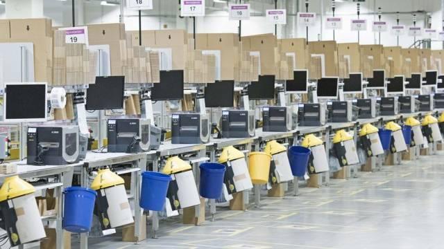 Amazon-Verteilzentrum im deutschen Bad Hersfeld (Symbolbild)
