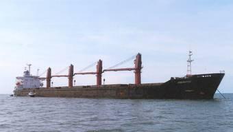 """Der von den US-Behörden festgesetzte nordkoreanische Frachter """"Wise Honest"""" auf einer undatierten Aufnahme des US Justizministeriums. (Archivbild)"""