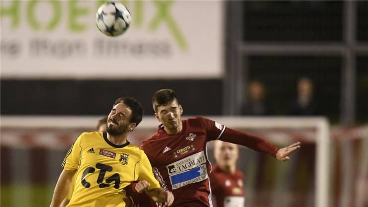 Leo Mooser (r.) vom FC Baden: «Wir wollen zeigen, was für eine Qualität unsere Mannschaft besitzt.» archiv/awa