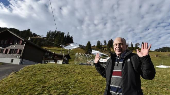 Faktisch in der Poleposition bei der Auswahl des Departements: Bundesrat Ueli Maurer am Freitag in Adelboden. Foto: Keystone